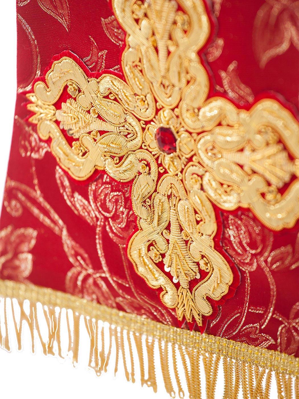 Stola piviale rosso e oro